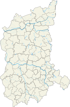 Mapa lokalizacyjna województwa lubuskiego