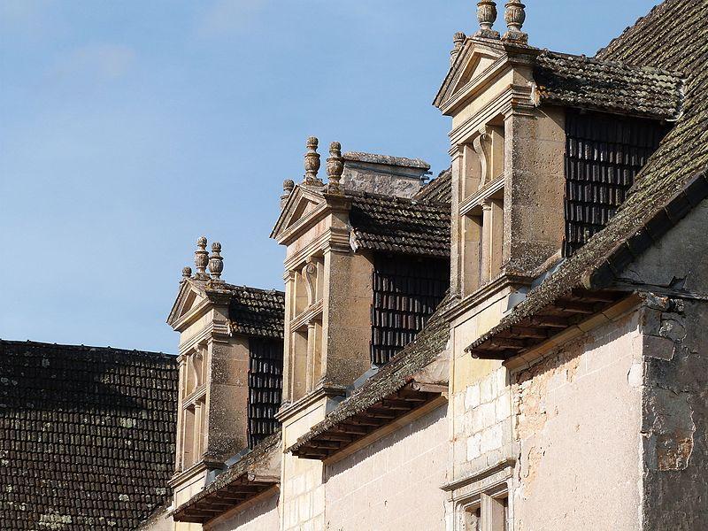 Lucarnes de la façade sud du corps de logis principal du château de Couanac (Varaire)
