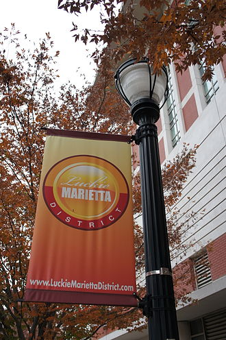Centennial Park District - Luckie Marietta banners