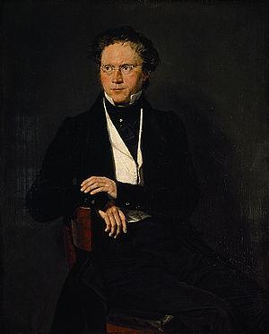 Ludvig Bødtcher - Ludvig Bødtcher, portrait by Christian Albrecht Jensen from 1836. Thorvaldsens Museum