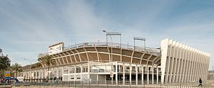 La Rosaleda Stadium - External view of the stadium