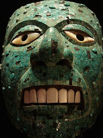 For the Love of God - An example of an Aztec mask in turquoise inlay and other materials, British Museum