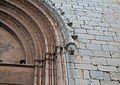 Mènsula figurativa a la portada nord, església de santa Maria de Sagunt.JPG
