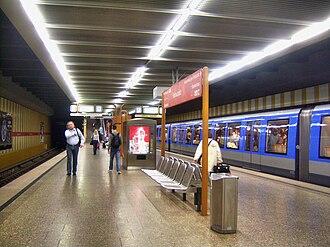 Rotkreuzplatz (Munich U-Bahn) - Image: München U Bahn Station Rotkreuzplatz 9.7.2008