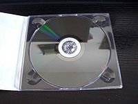 M-DISC medium in an open case