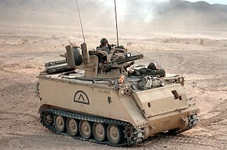 M61 Vulcan - The M61 mounted on a US Army M163 armored vehicle.