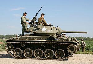 Bill Bellamy (British Army officer) - Chaffee tank