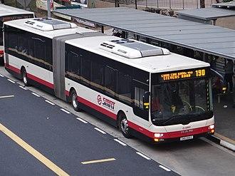 SMRT Buses - A MAN NG363F (Gemilang Coachworks) articulated bus