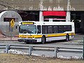MBTA route 76 bus leaving Alewife station, March 2017.JPG