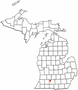 Location of Emmett Charter Township in Michigan.