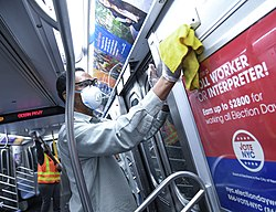 MTA New York City Transit Sanitizes Stations and Subway Cars (49618677077).jpg