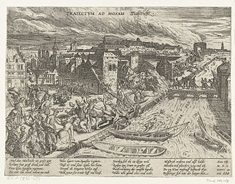 European wars of religion - The Spanish Fury at Maastricht in 1576