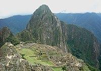 Ruiny inckého města Machu Picchu.