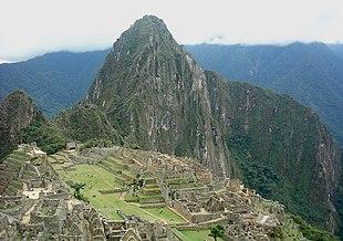 Die alte inka festung machu picchu