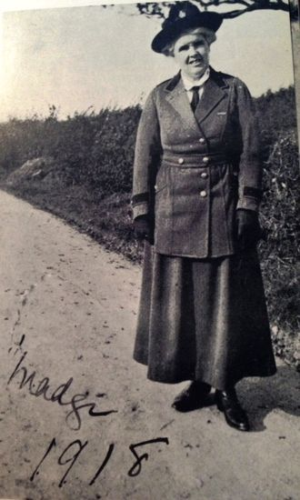 Margaret Robertson Watt - As Chief Organizer of WIs in Great Britain during World War I, Mrs Watt helped bring over 100 Institutes into being within three years. In this picture, she wears the uniform for Voluntary County Organizers.