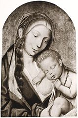 Madonna Lactans with Christ Child Sleeping