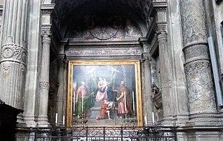 Madonna con il Bambino, santi Pietro e Paolo e un angelo