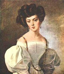 Retrato de la madre de Piotr Kropotkin.