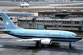 Maersk Air Boeing 737 at Frankfurt am Main.jpg