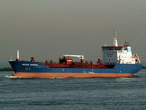Maersk Naantali leaving Port of Rotterdam, Holland 24-Jan-2006.jpg