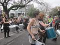 Magazine St Carnival Sunday 2013 Skin N Bones Drums.JPG