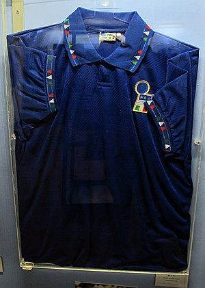Roberto Baggio - Baggio's Italy jersey located in the Football Museum in Florence