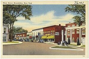 Broadalbin (village), New York - Main Street, ca. 1930-45