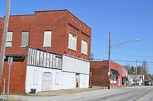 Richland City, Indiana - Main Street at Adams Street