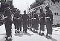 Major General David Cowan inspects Indian troops in Kure, Japan, 1946.jpg