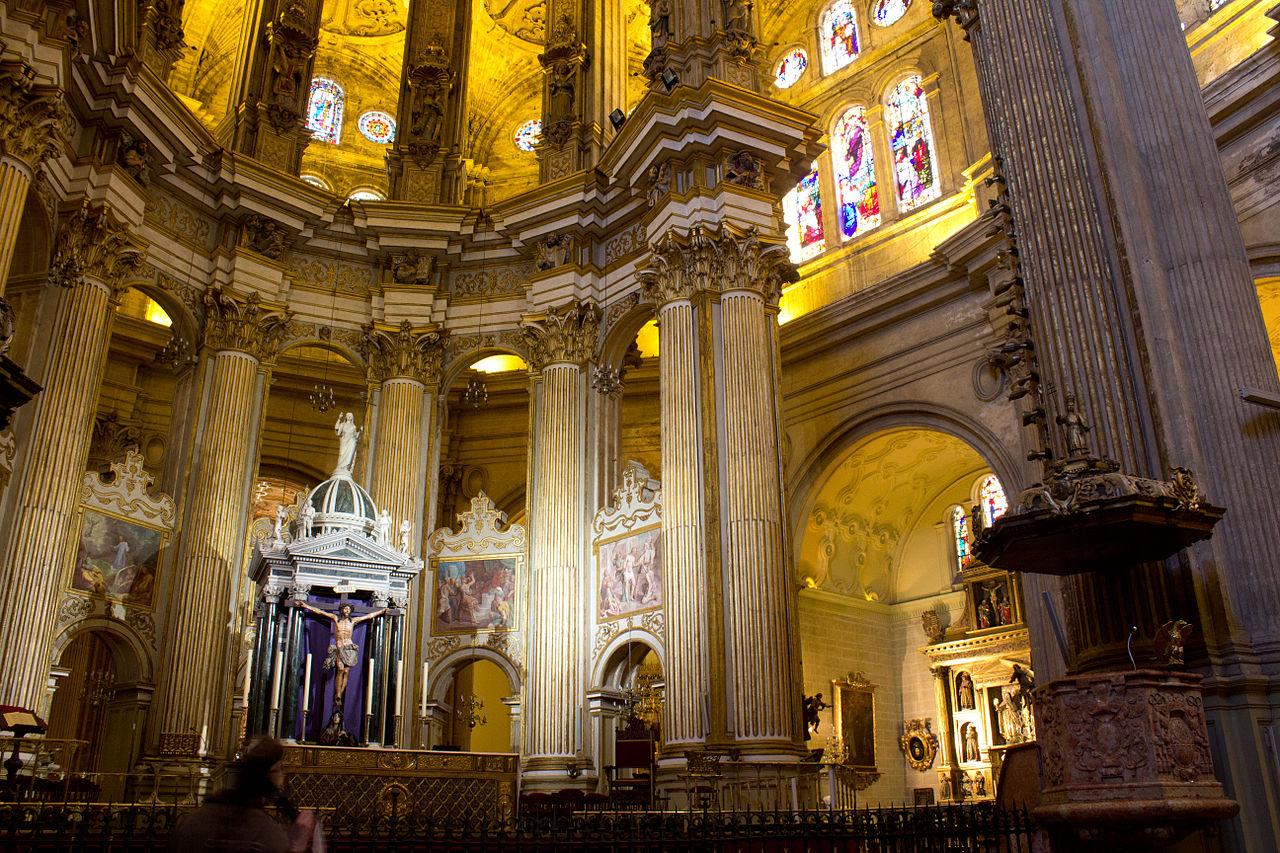 File Malaga Cathedral Malaga Spain Jpg Wikimedia Commons