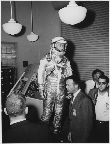 File:Man in Space Suit - NARA - 278192.tif