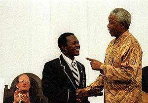 Hilton College (South Africa) - Former President Nelson Mandela at the Hilton College Speech Day, 2001