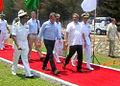 Manohar Parrikar and Dr Ashton Carter during the visit to Naval Base and Naval Ship Repair Yard at Karwar.JPG