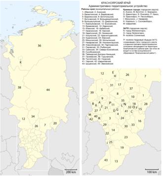 Krasnoyarsk Krai - Image: Map Krasnoyarsk Krai