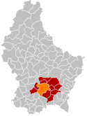 Location of Luxembourg in Luxembourg