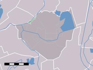 Amstelhoek - Image: Map NL De Ronde Venen Amstelhoek