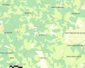 Map commune FR insee code 33528.png