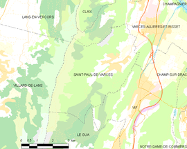 Mapa obce Saint-Paul-de-Varces