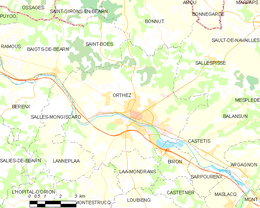 Orthez – Mappa
