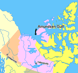 Map indicating Amundsen Gulf, Northwest Territories, Canada.png