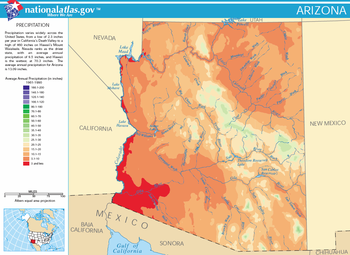 Geography Of Arizona Wikipedia - Sonoran desert on us map