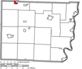 Map of Belmont County Ohio Highlighting Holloway Village.png
