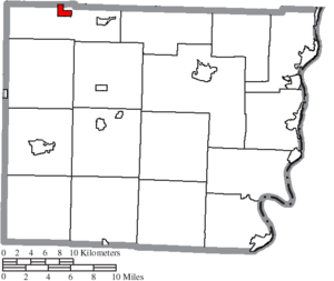 Holloway, Ohio - Image: Map of Belmont County Ohio Highlighting Holloway Village