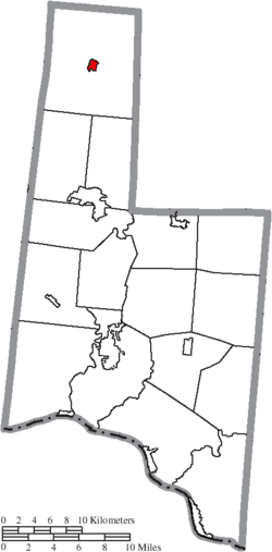Location of Fayetteville in Brown County