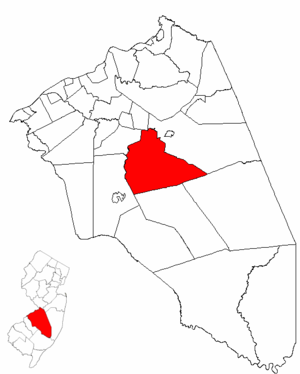 Southampton Township, New Jersey - Image: Map of Burlington County highlighting Southampton Township