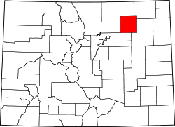 map of Colorado highlighting Morgan County
