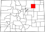 Map of Colorado highlighting Morgan County.svg