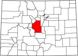 Map of Colorado highlighting Park County.svg