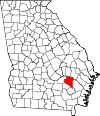 Map of Georgia highlighting Appling County.svg