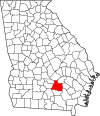 Map of Georgia highlighting Coffee County.svg